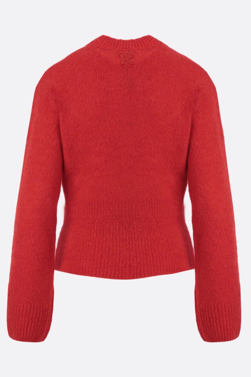 KENZO: K patch wool cashmere blend pullover Color Red_2