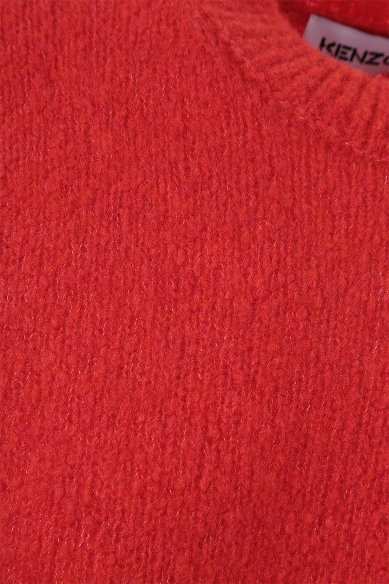 KENZO: K patch wool cashmere blend pullover Color Red_3