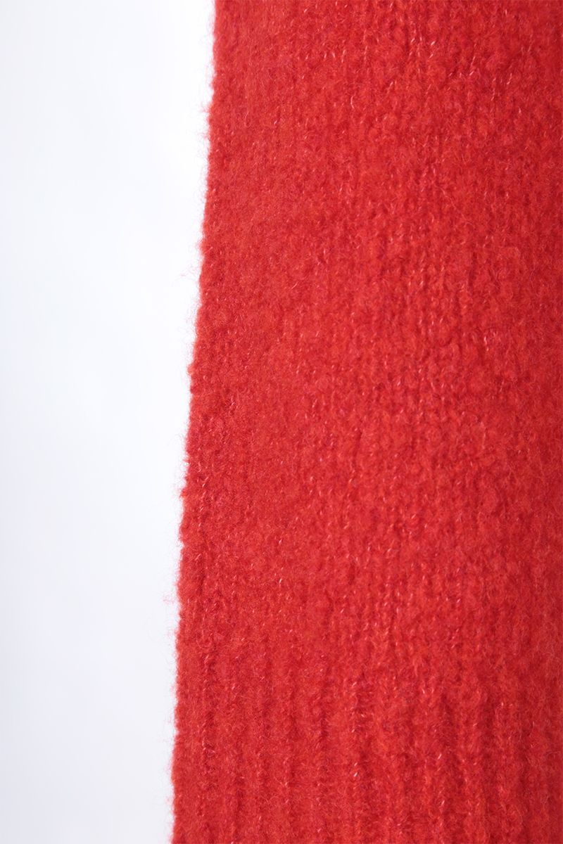 KENZO: K patch wool cashmere blend pullover Color Red_4