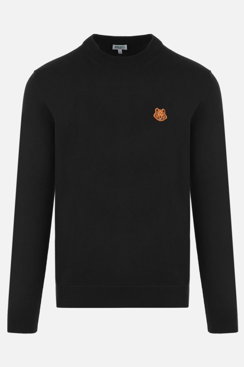 KENZO: Tiger Crest wool pullover Color Black_1