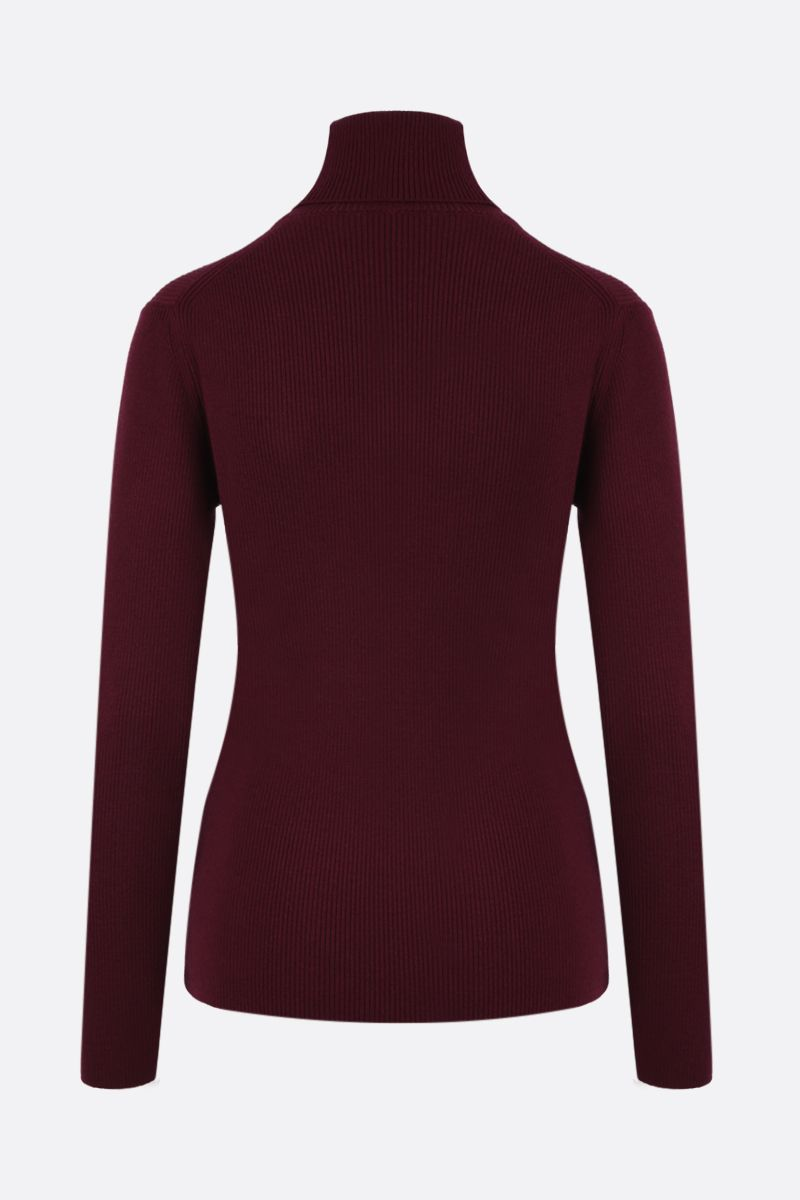 KENZO: Tiger Crest wool turtleneck Color Red_2