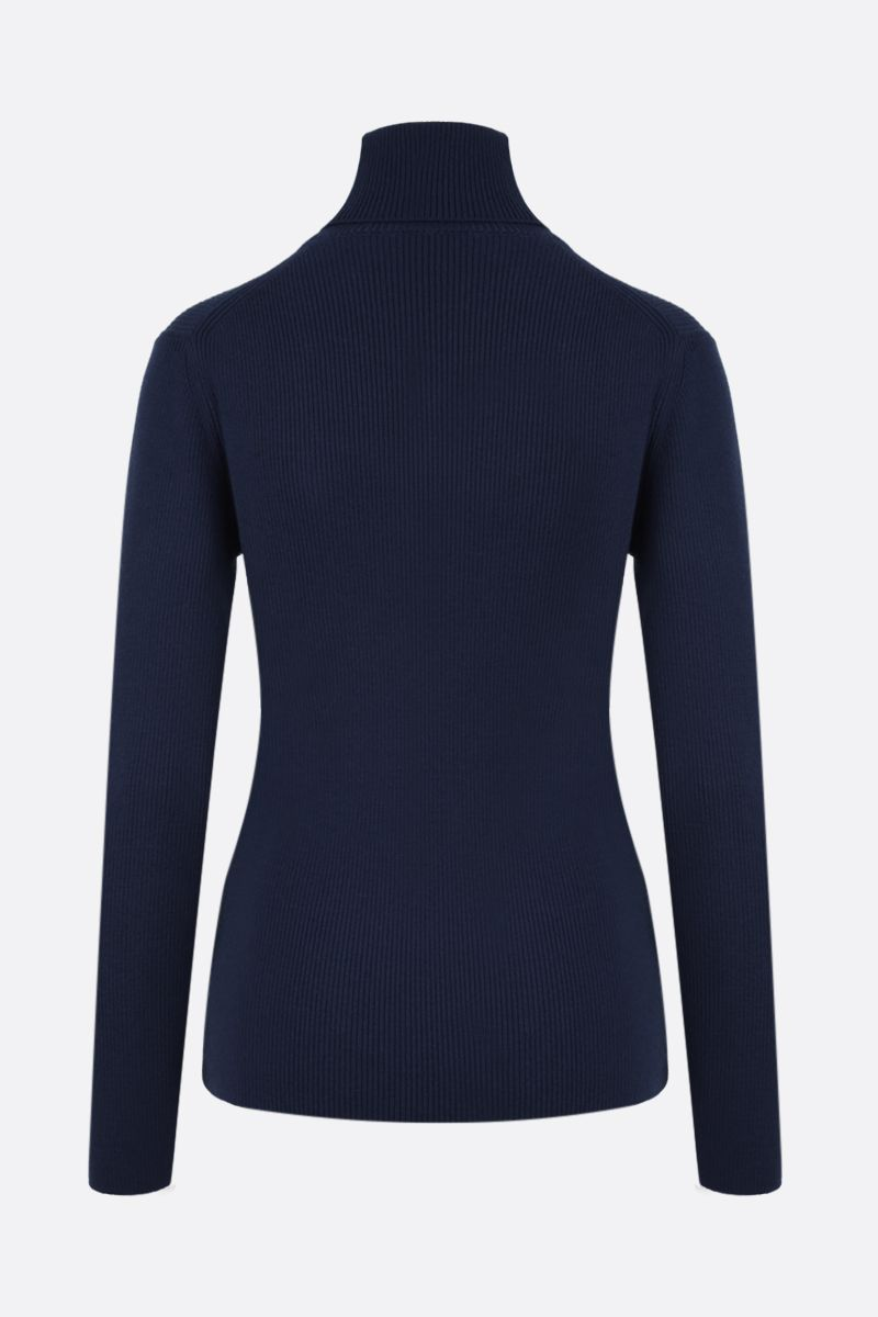 KENZO: Tiger Crest wool turtleneck Color Blue_2
