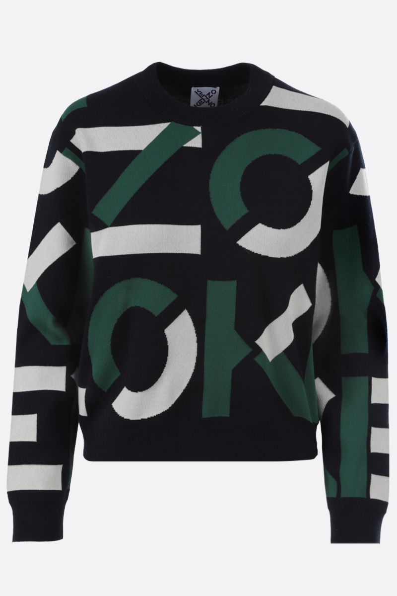 KENZO: Kenzo Sport cotton blend pullover Color Green_1