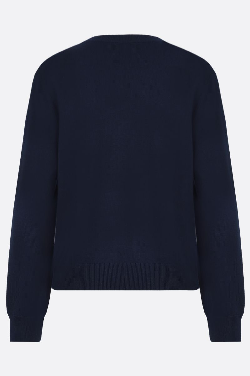 KENZO: Kenzo Logo wool pullover Color Blue_2
