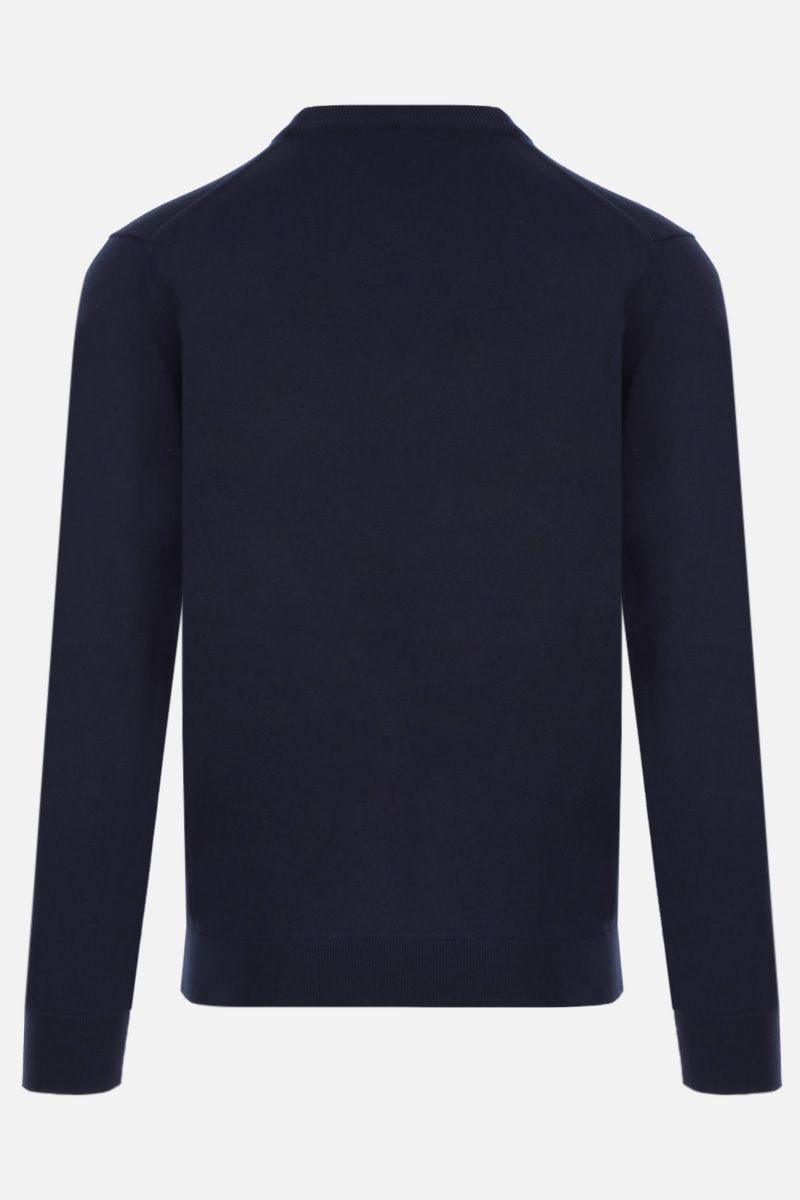 KENZO: Tiger Crest wool pullover Color Blue_2