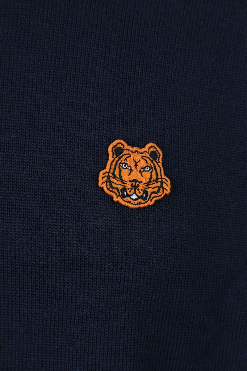 KENZO: Tiger Crest wool pullover Color Blue_3