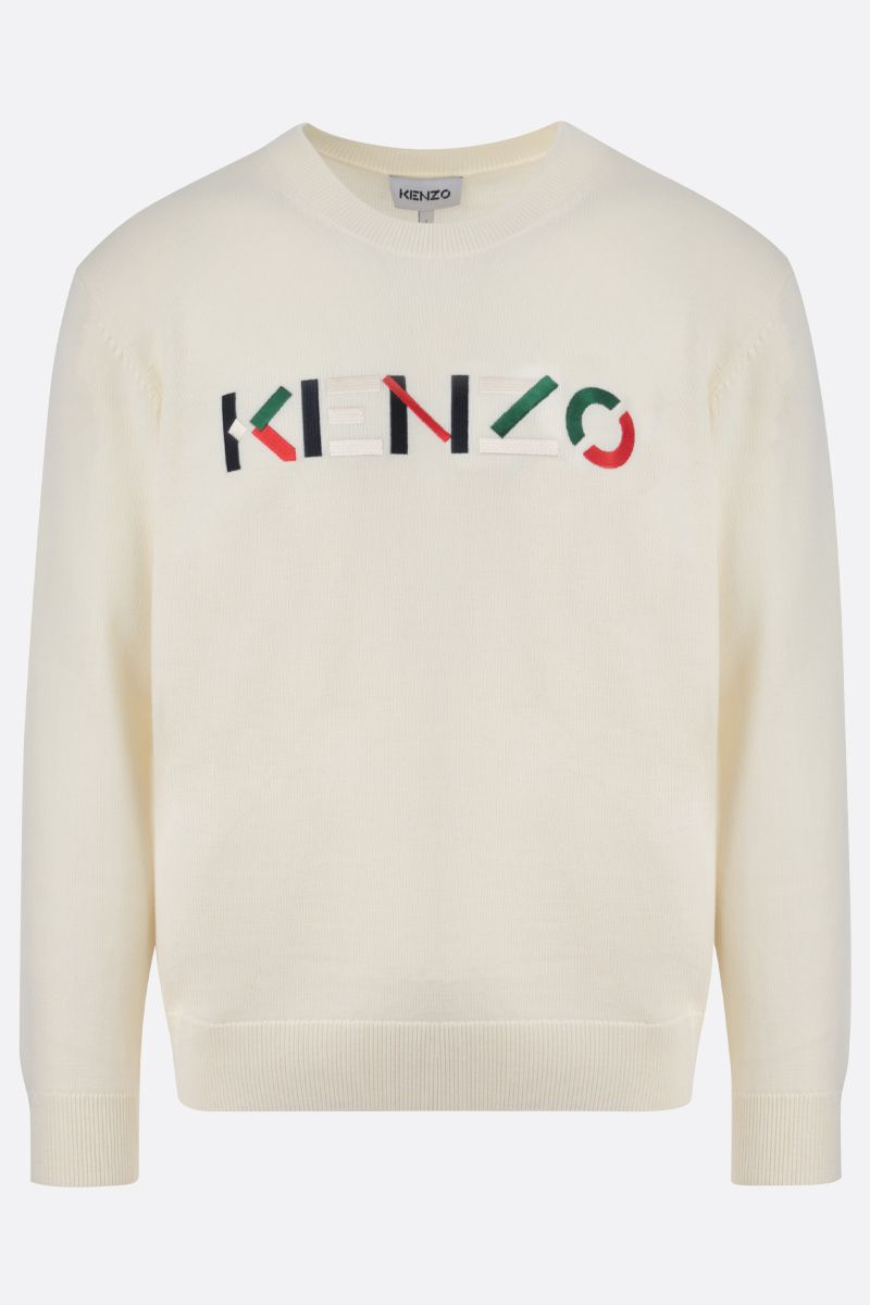 KENZO: Kenzo Logo wool pullover Color Neutral_1