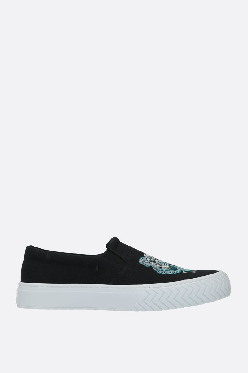 KENZO: K-Skate Tiger Head canvas sneakers Color Black_1