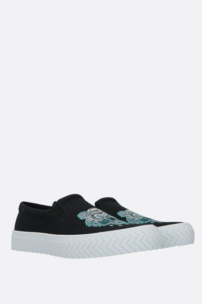 KENZO: K-Skate Tiger Head canvas sneakers Color Black_2