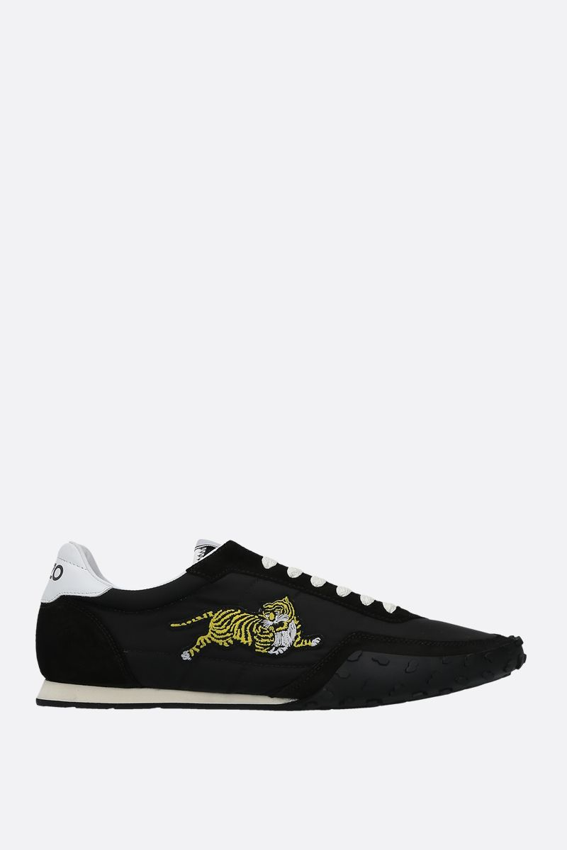 KENZO: Kenzo Move nylon and suede sneakers Color Black_1