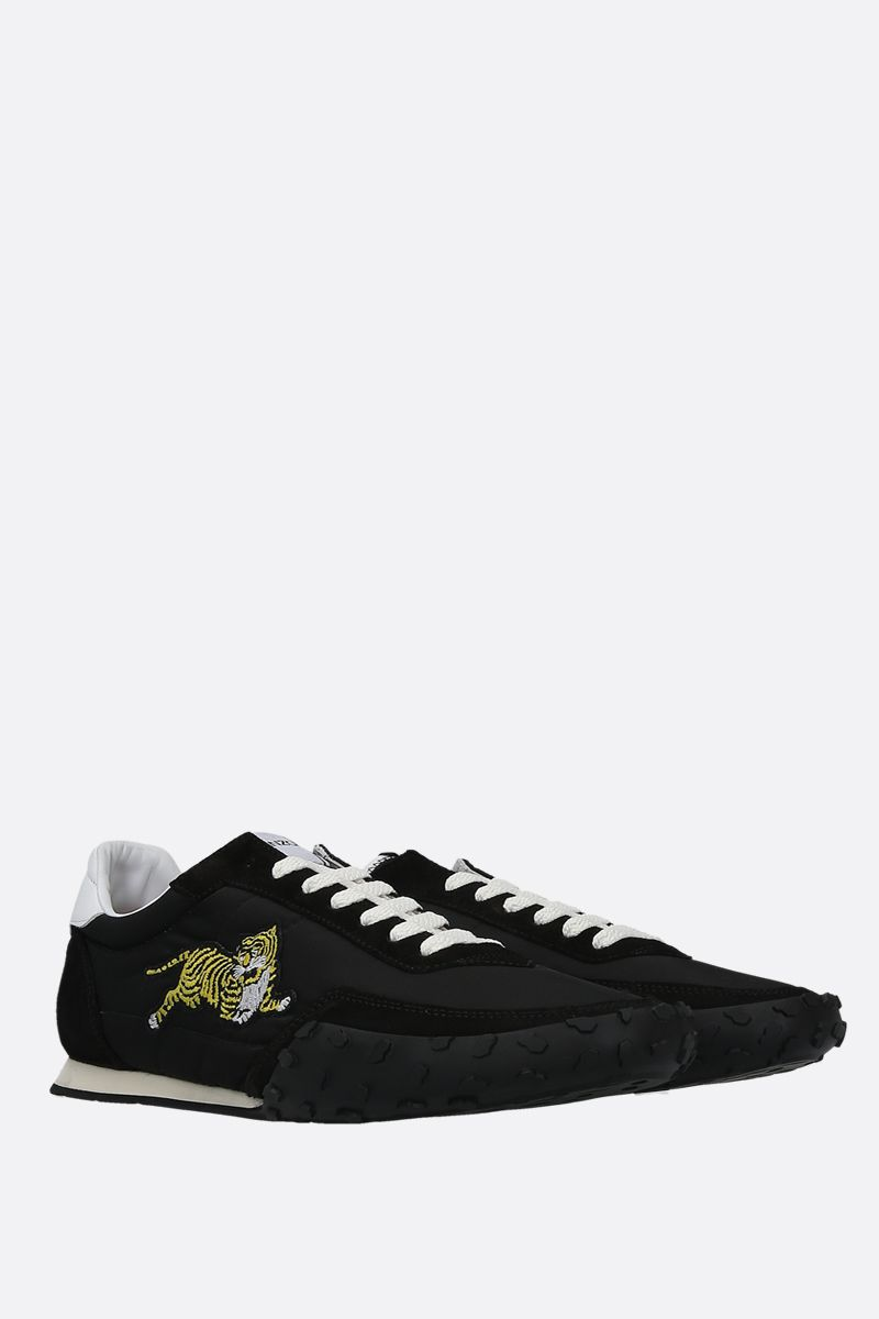 KENZO: Kenzo Move nylon and suede sneakers Color Black_2