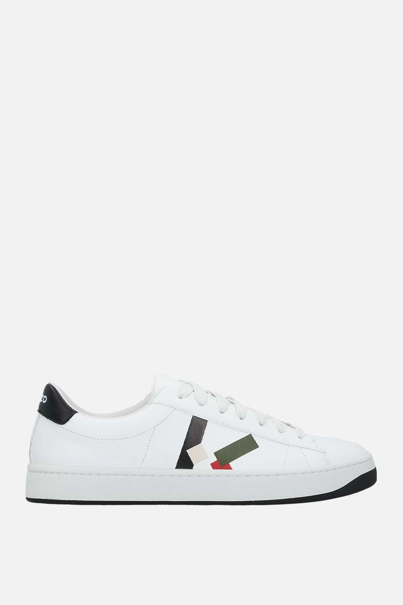 KENZO: Kenzo Kourt smooth leather sneakers Color Green_1