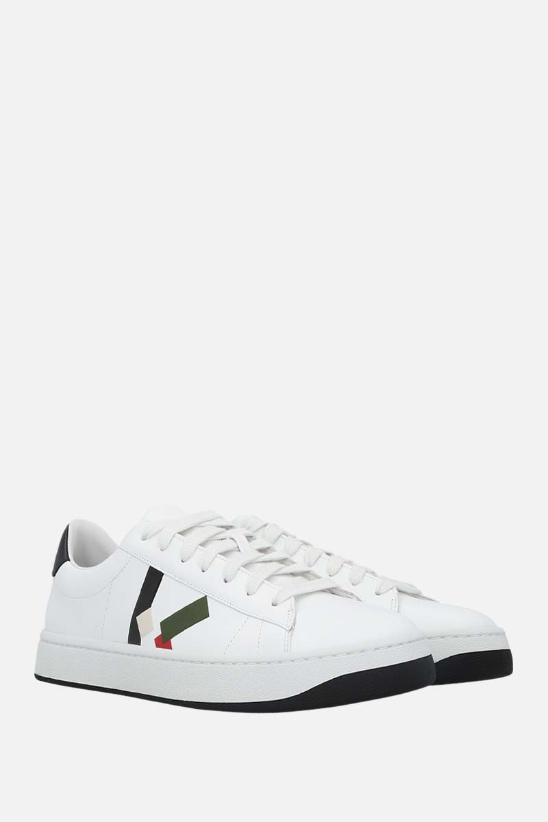 KENZO: Kenzo Kourt smooth leather sneakers Color Green_2