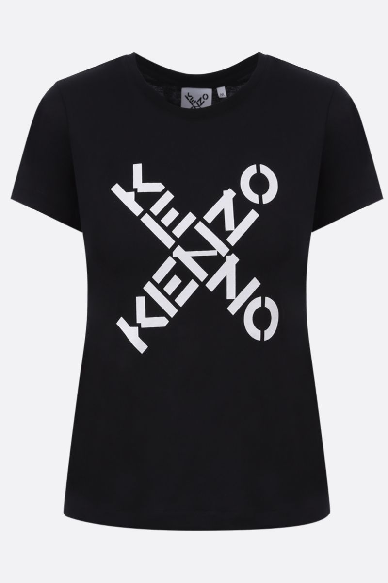 KENZO: Kenzo Logo cotton t-shirt Color Black_1