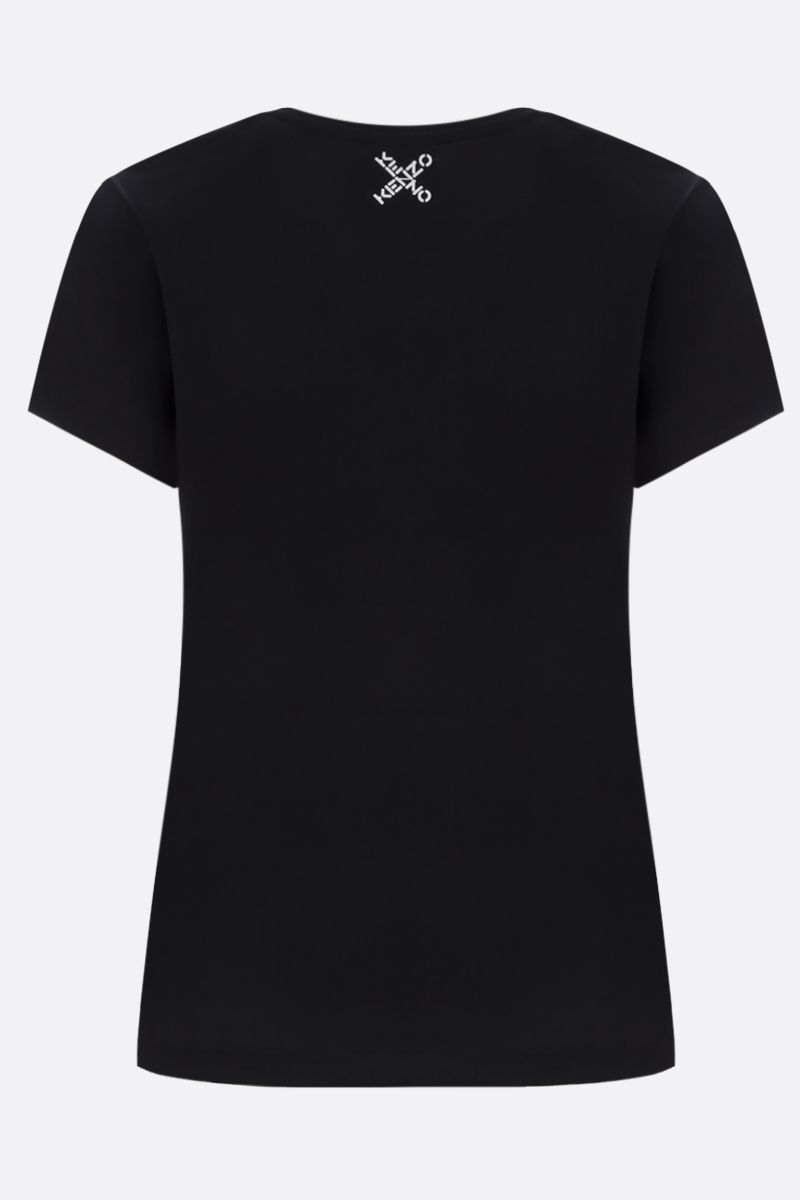 KENZO: Kenzo Logo cotton t-shirt Color Black_2
