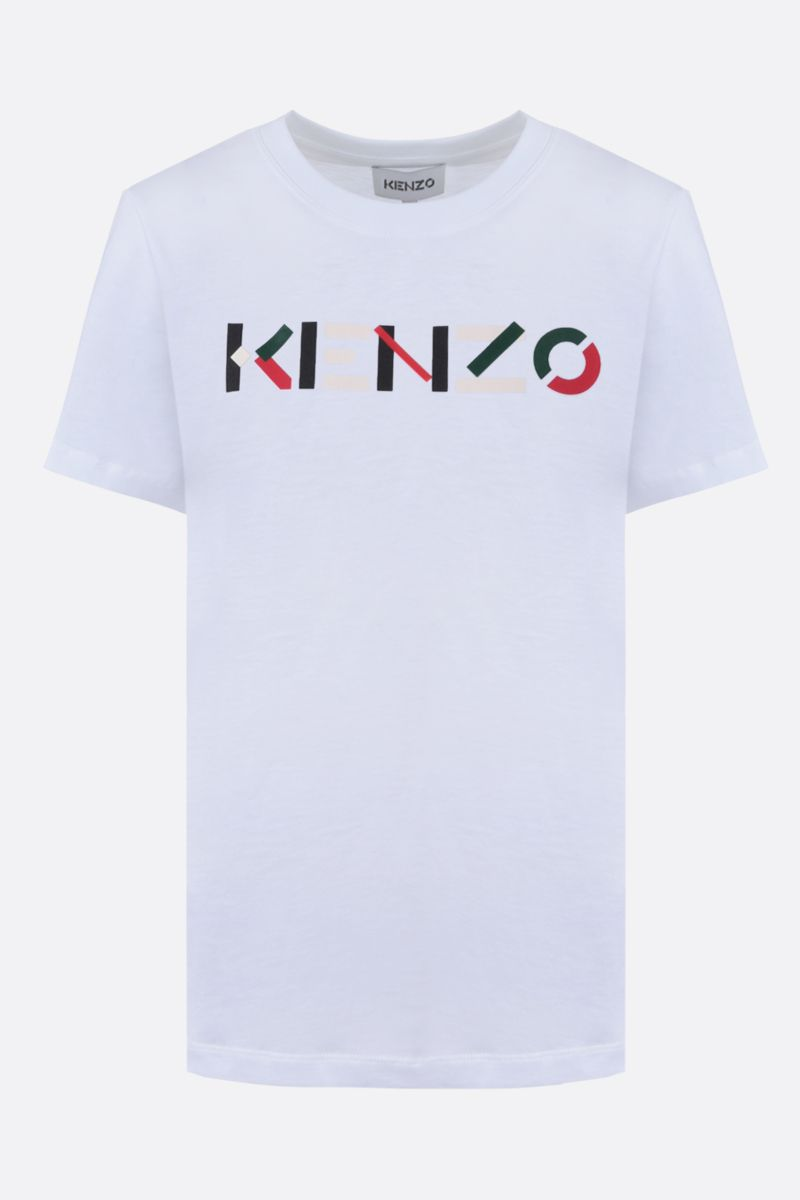 KENZO: Kenzo Logo cotton t-shirt Color White_1