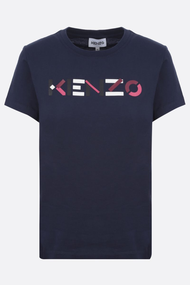 KENZO: Kenzo Logo cotton t-shirt Color Blue_1