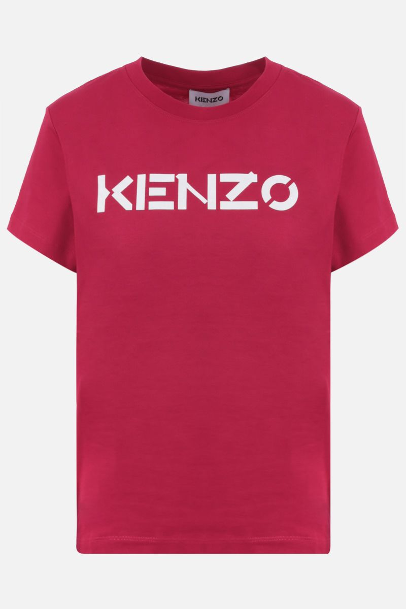 KENZO: Kenzo Logo cotton t-shirt Color Red_1
