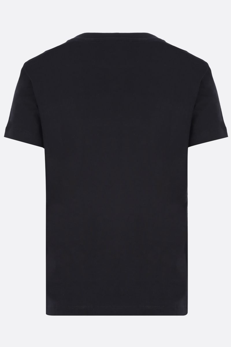 KENZO: t-shirt in cotone patch Tiger Head Colore Nero_2