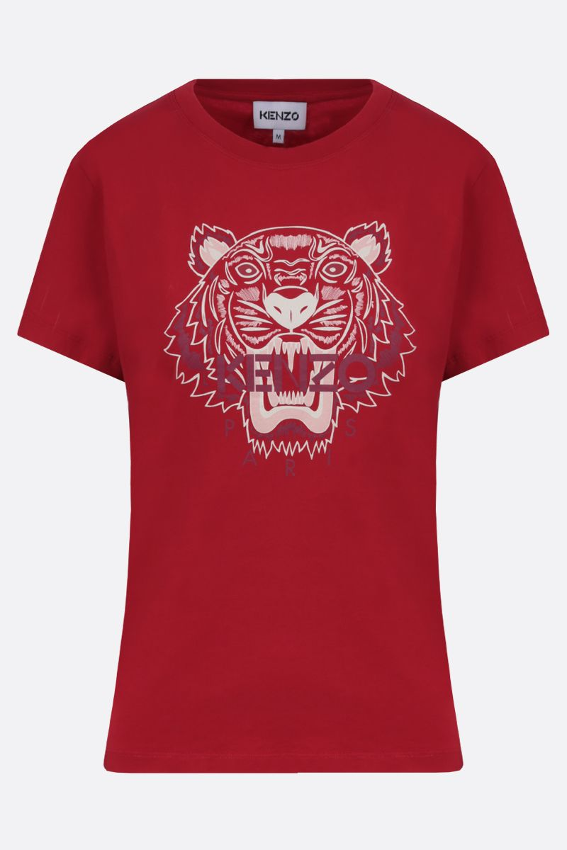 KENZO: Tiger cotton t-shirt Color Red_1