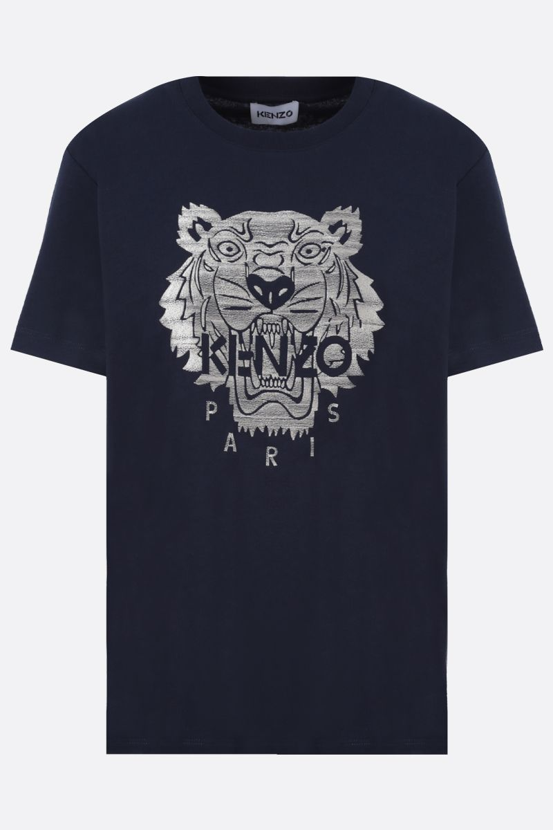 KENZO: Tiger cotton t-shirt Color Blue_1