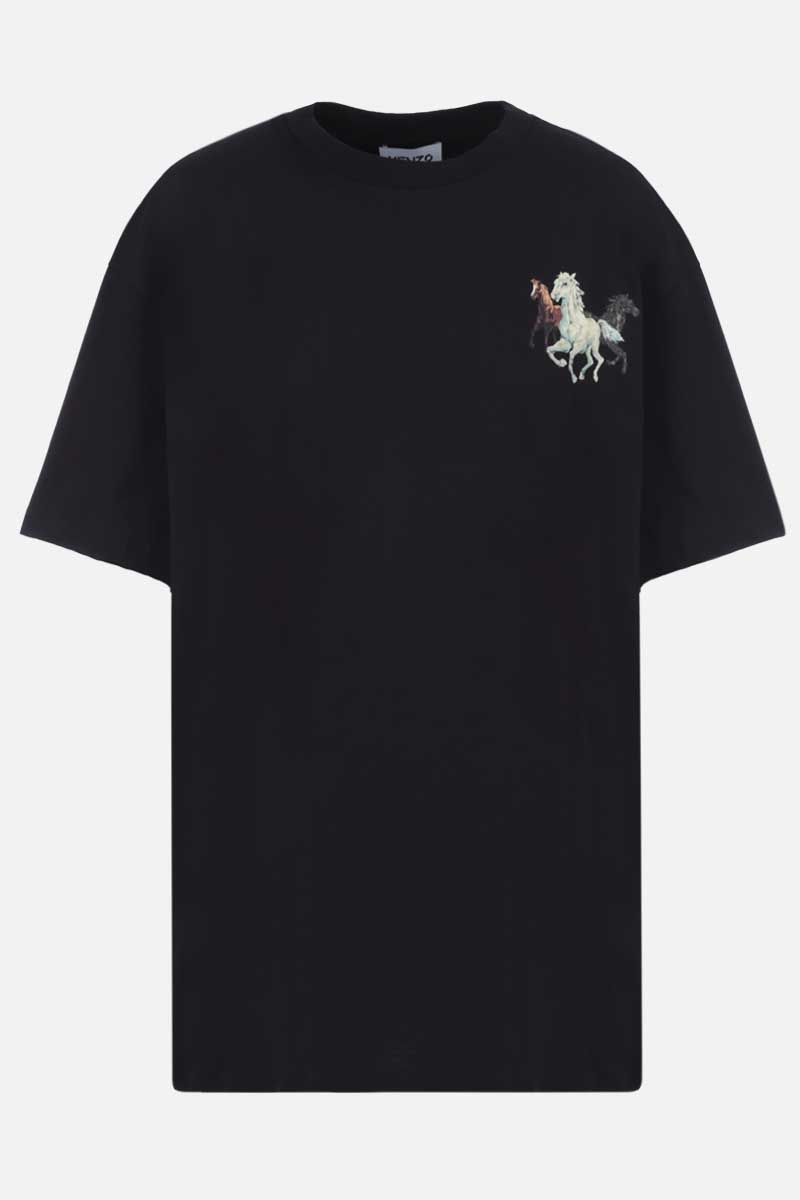KENZO: Chevaux Kenzo oversize cotton t-shirt Color Black_1