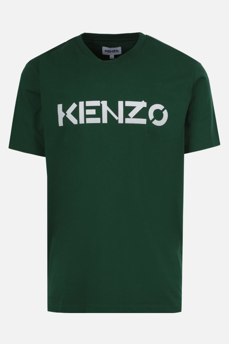 KENZO: Kenzo Logo cotton t-shirt Color Green_1