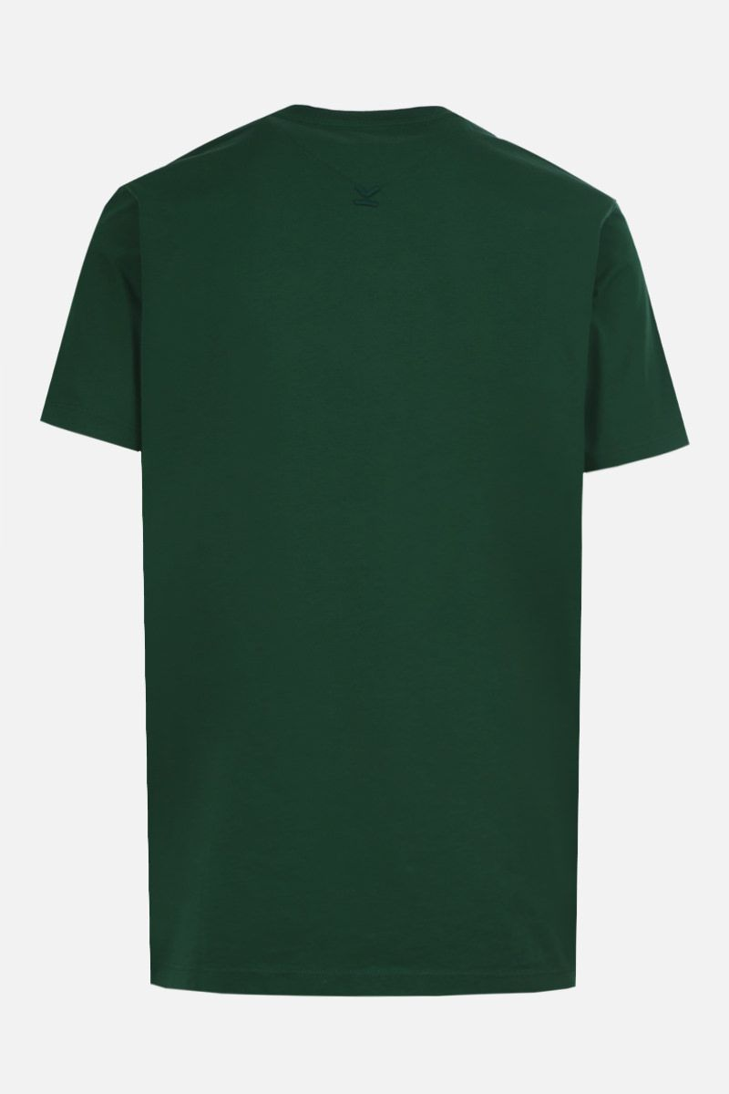 KENZO: Kenzo Logo cotton t-shirt Color Green_2