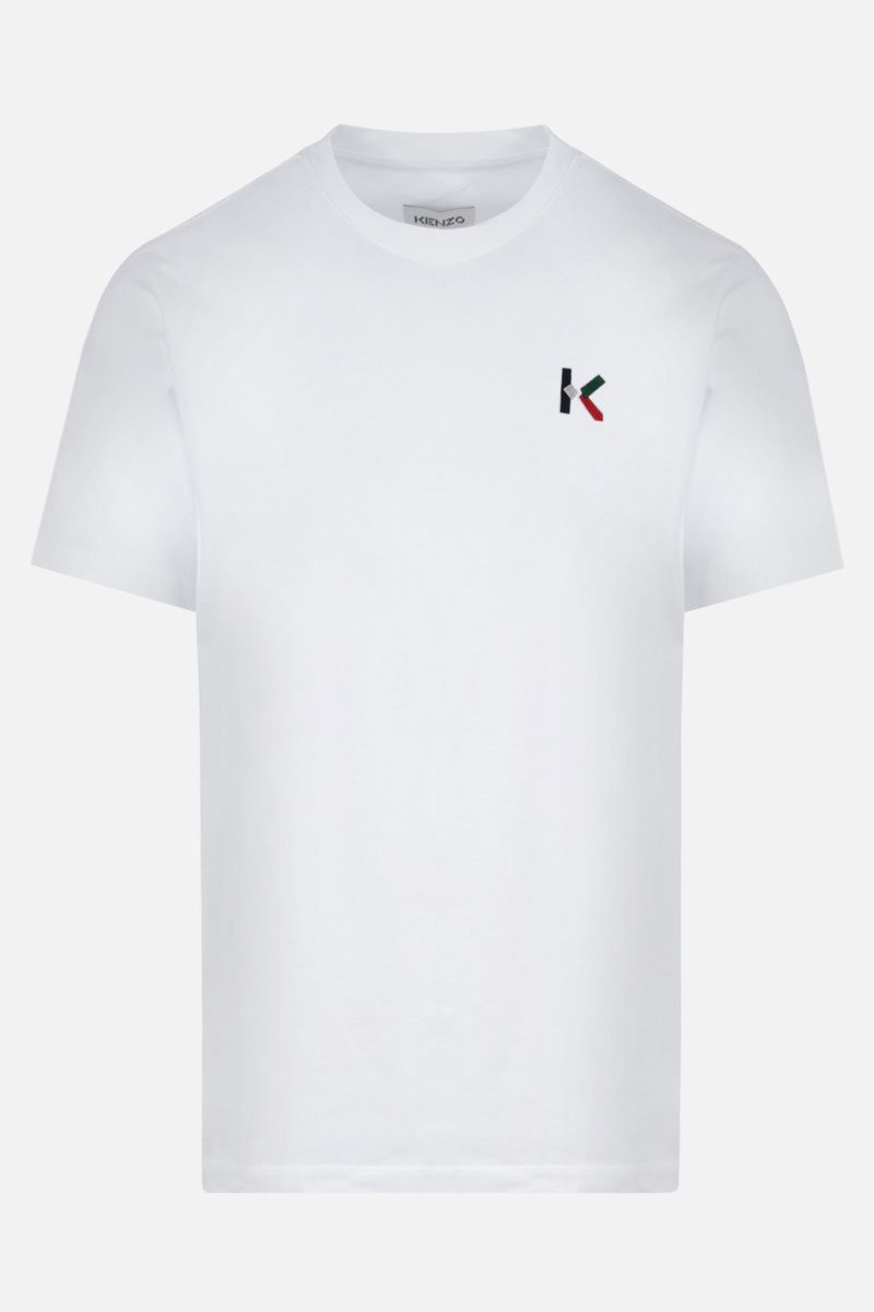 KENZO: K Logo oversize cotton t-shirt Color White_1