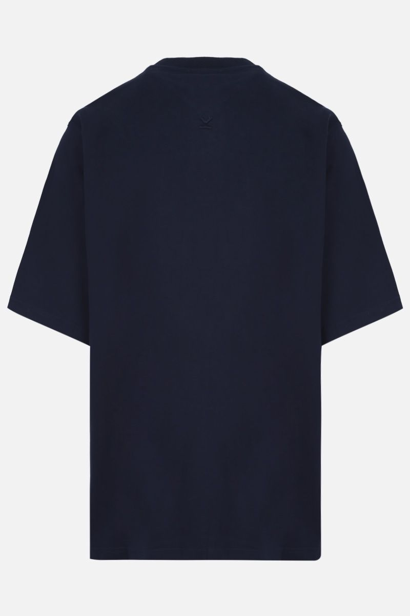 KENZO: K Logo oversized cotton t-shirt Color Blue_2