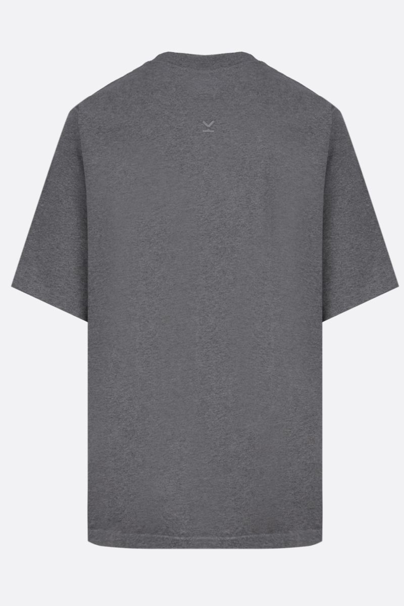 KENZO: K Logo oversized cotton t-shirt Color Grey_2
