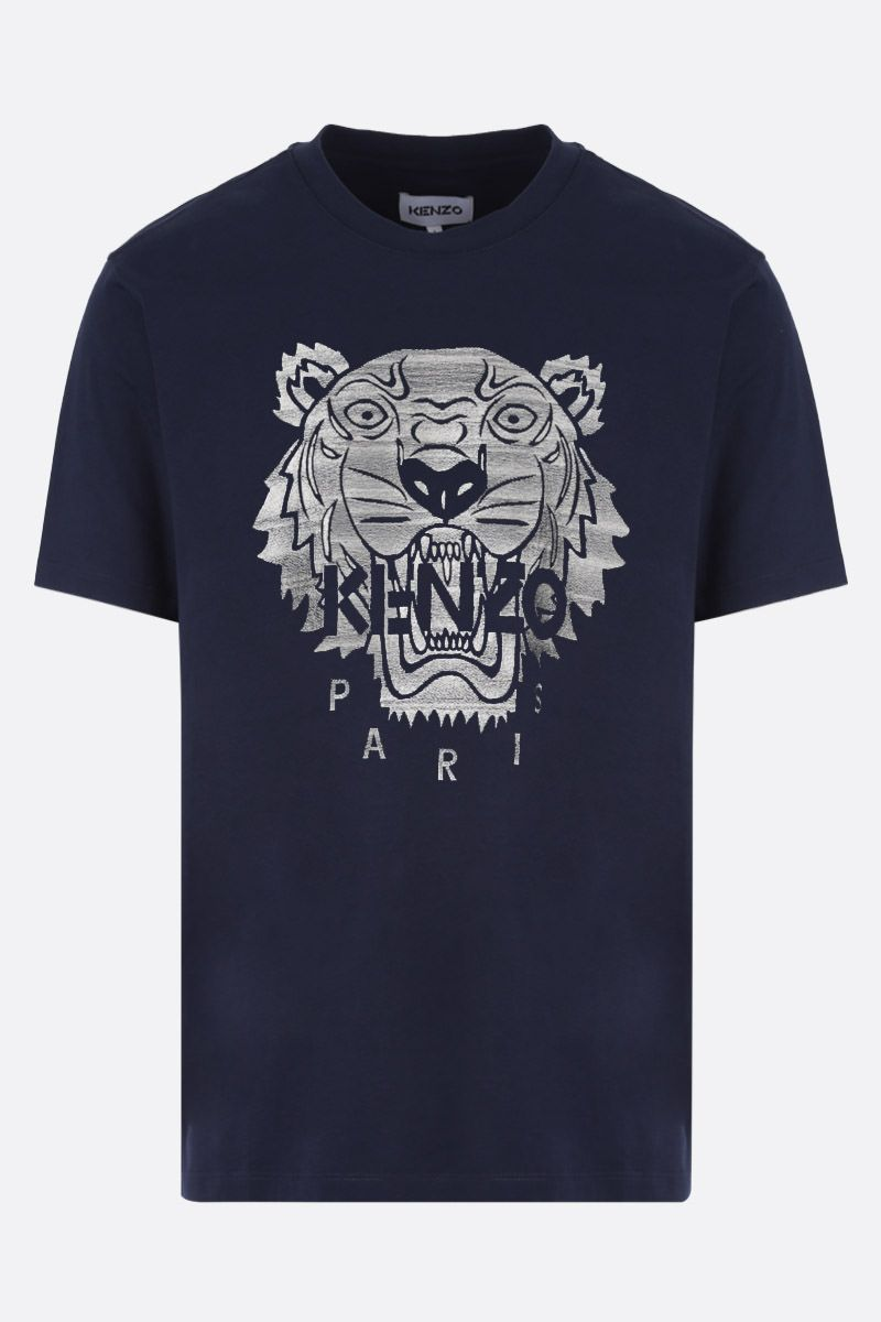 KENZO: Tiger oversize cotton t-shirt Color Blue_1