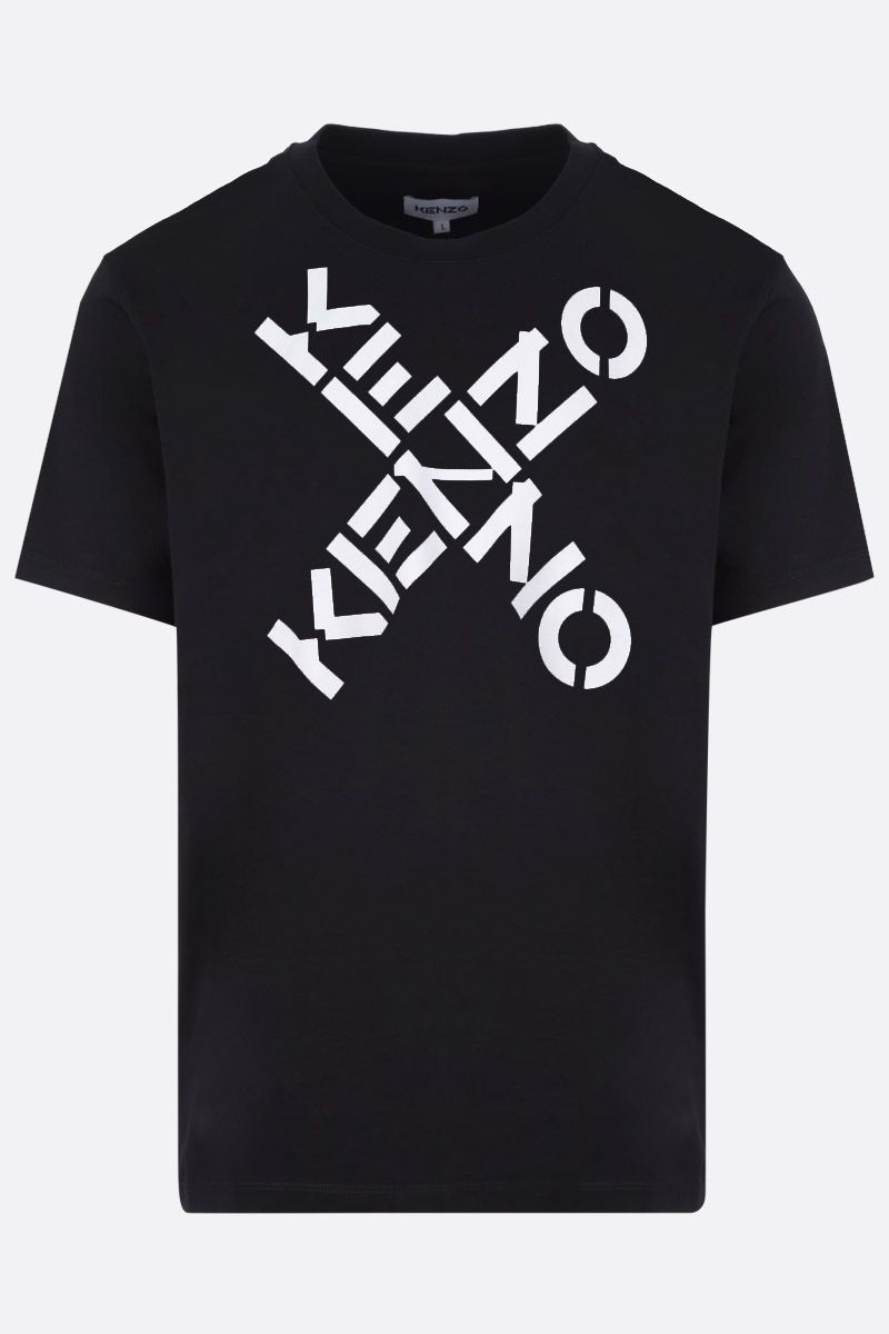 KENZO: Kenzo Logo oversize cotton t-shirt Color Black_1