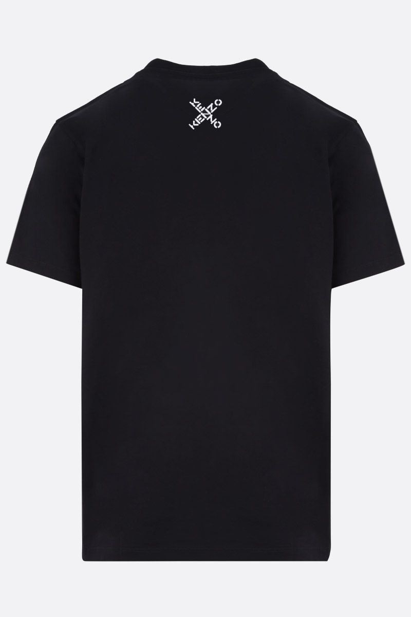 KENZO: Kenzo Logo oversize cotton t-shirt Color Black_2