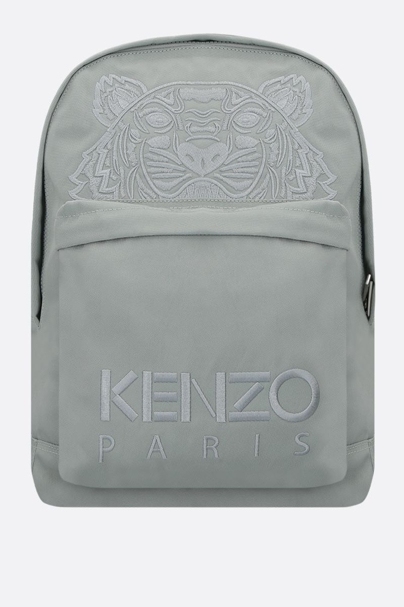 KENZO: Tiger large nylon backpack Color Green_1