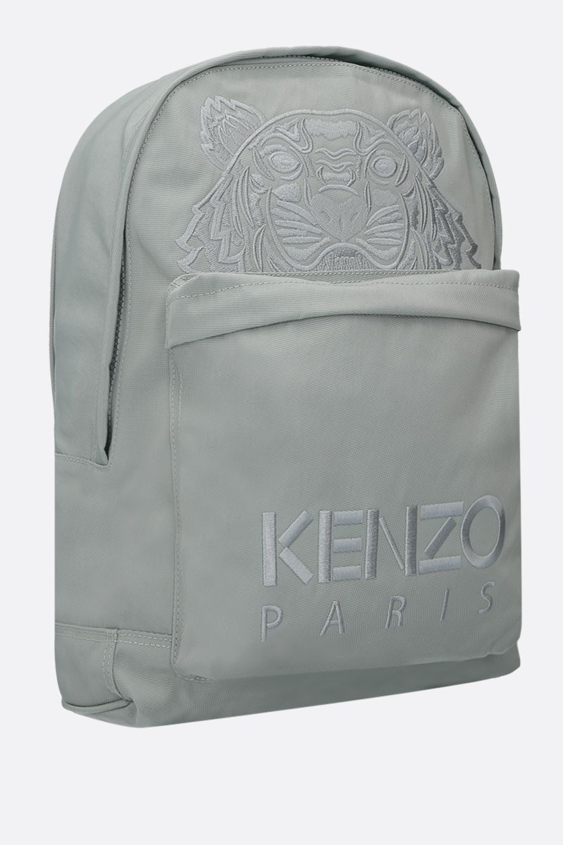 KENZO: Tiger large nylon backpack Color Green_2