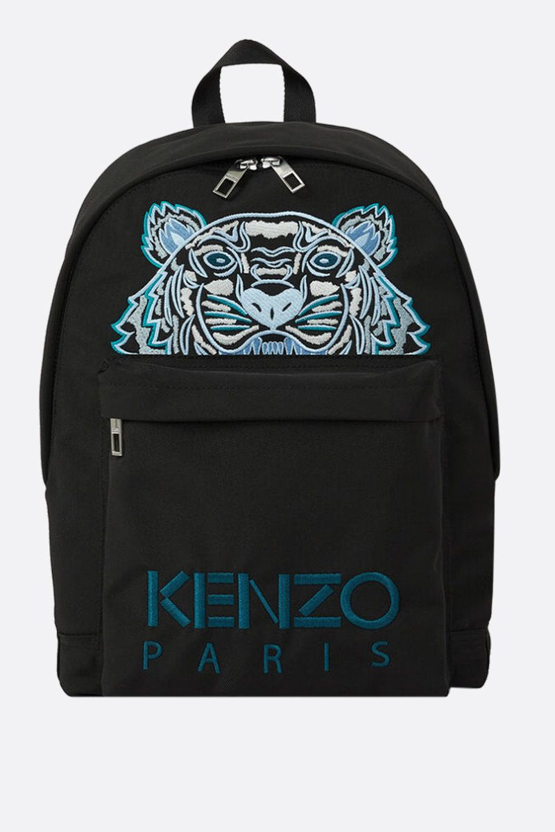 KENZO: Kampus Tiger nylon backpack Color Black_1