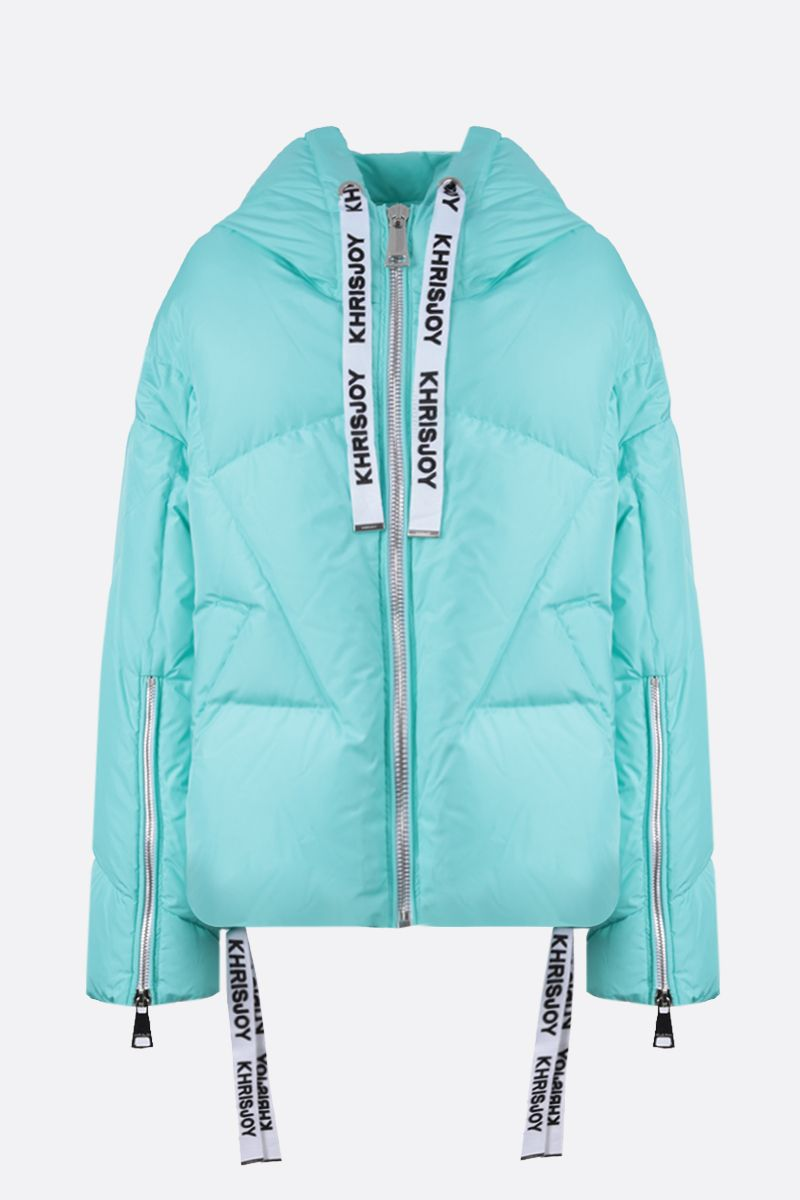 KHRISJOY: Khris nyln oversize puffer jacket Color Blue_1