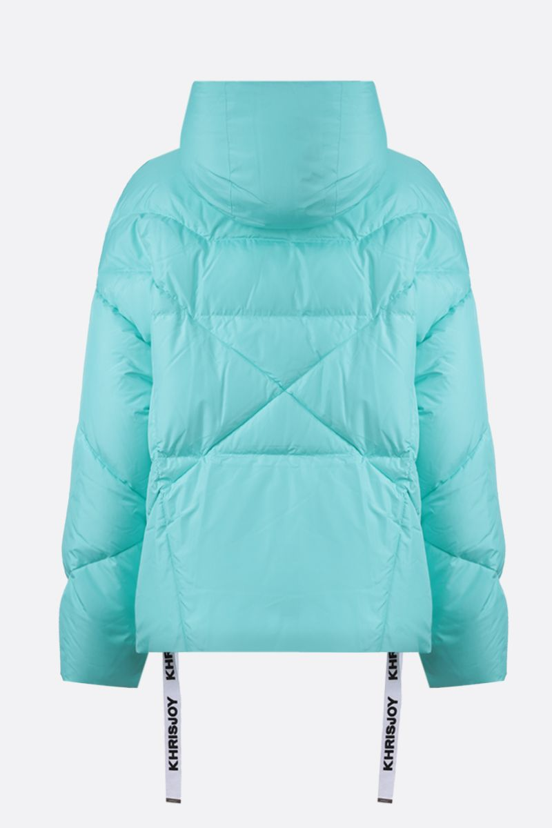KHRISJOY: Khris nyln oversize puffer jacket Color Blue_2