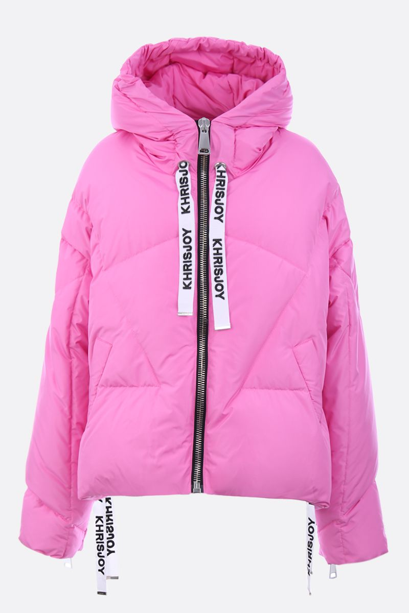 KHRISJOY: Khris oversized nylon puffer jacket Color Pink_1
