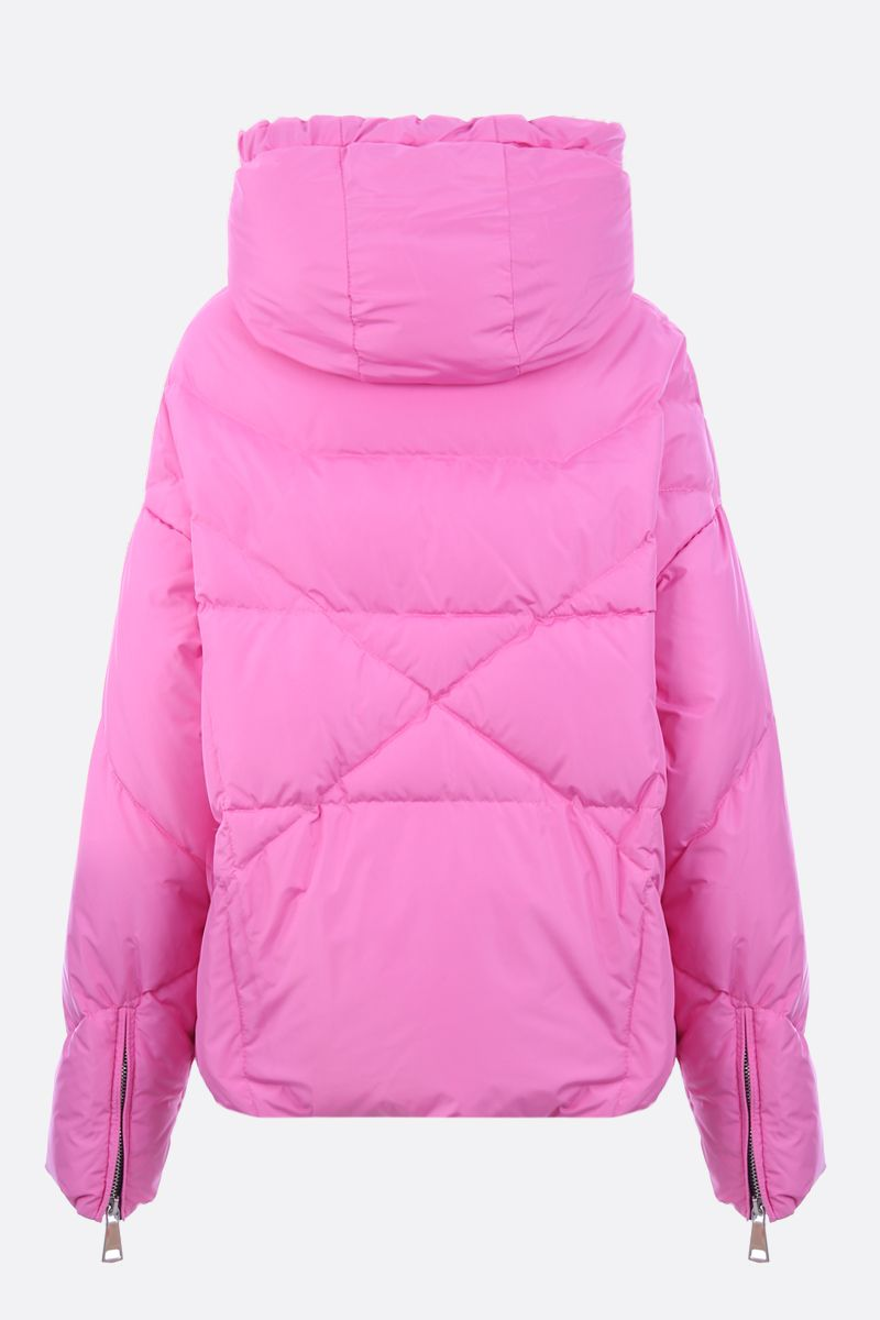 KHRISJOY: Khris oversized nylon puffer jacket Color Pink_2