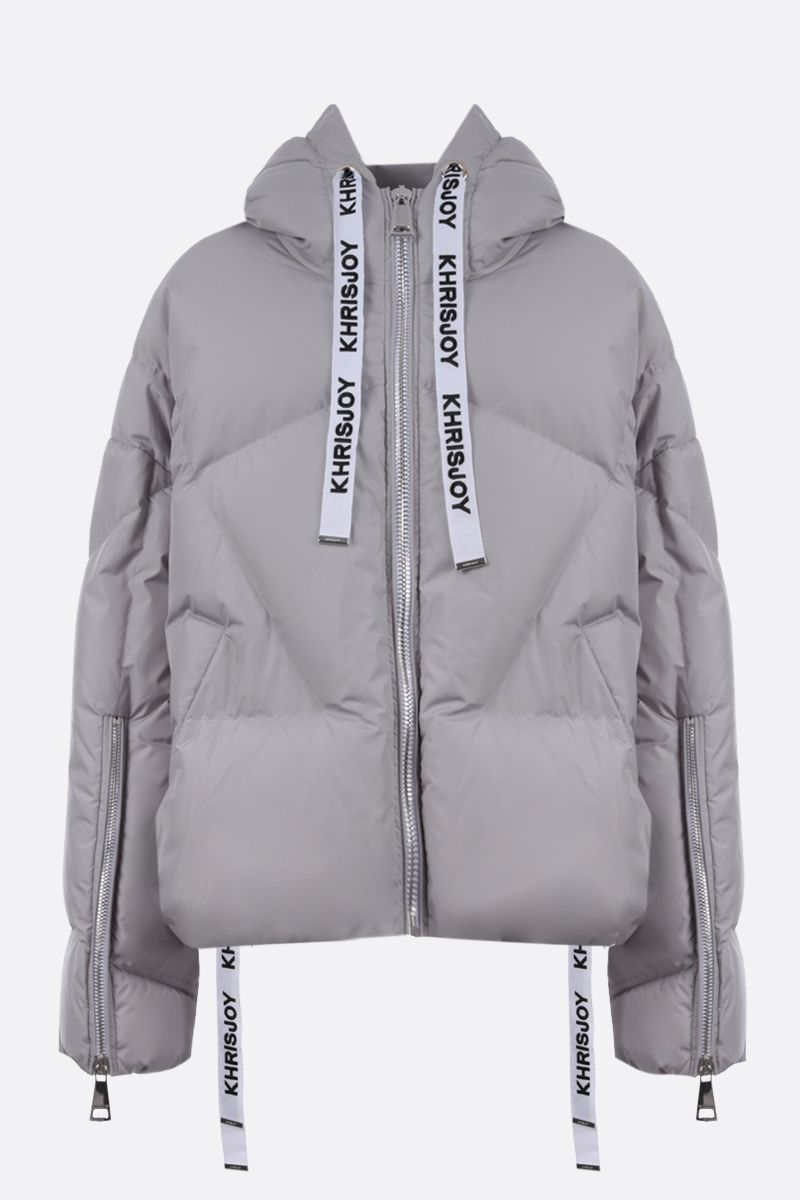 KHRISJOY: Khris nylon oversize puffer jacket Color Grey_1