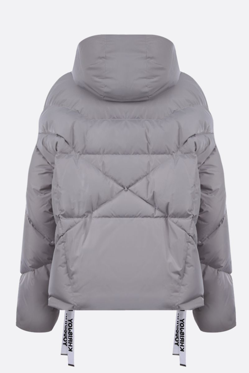 KHRISJOY: Khris nylon oversize puffer jacket Color Grey_2
