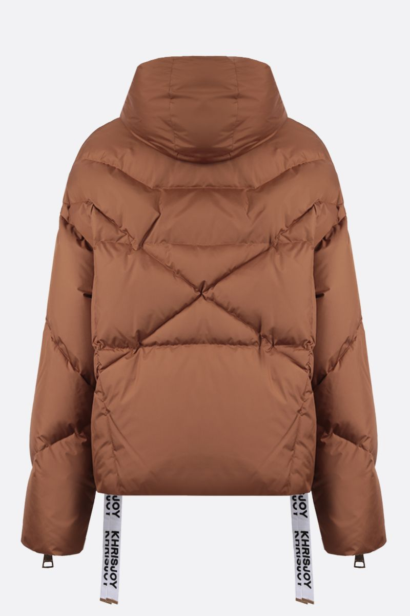 KHRISJOY: Khris nylon oversize puffer jacket Color Brown_2