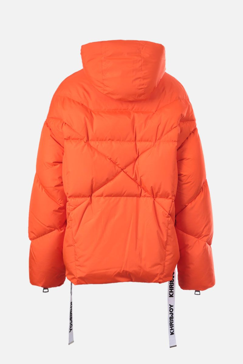 KHRISJOY: Khris nylon oversize puffer jacket Color Orange_2