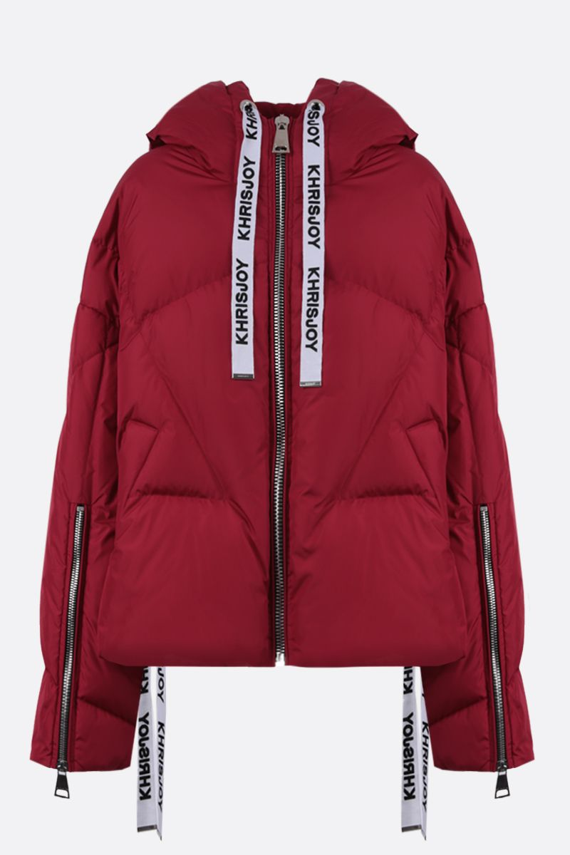 KHRISJOY: Khris nylon oversize puffer jacket Color Red_1