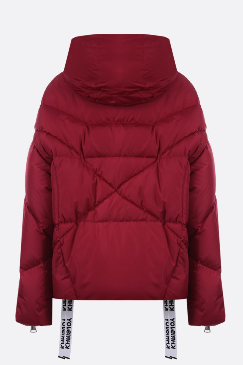 KHRISJOY: Khris nylon oversize puffer jacket Color Red_2