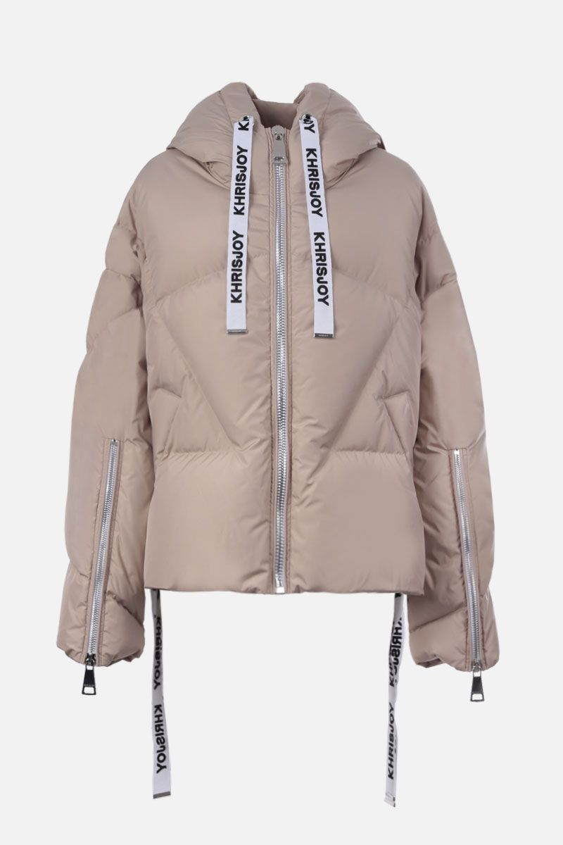 KHRISJOY: Khris nylon oversize puffer jacket Color Neutral_1