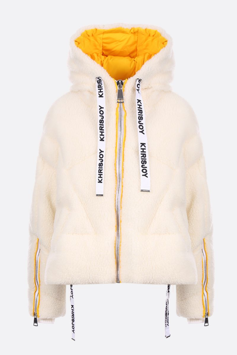 KHRISJOY: Khris oversized faux fur puffer jacket Color White_1