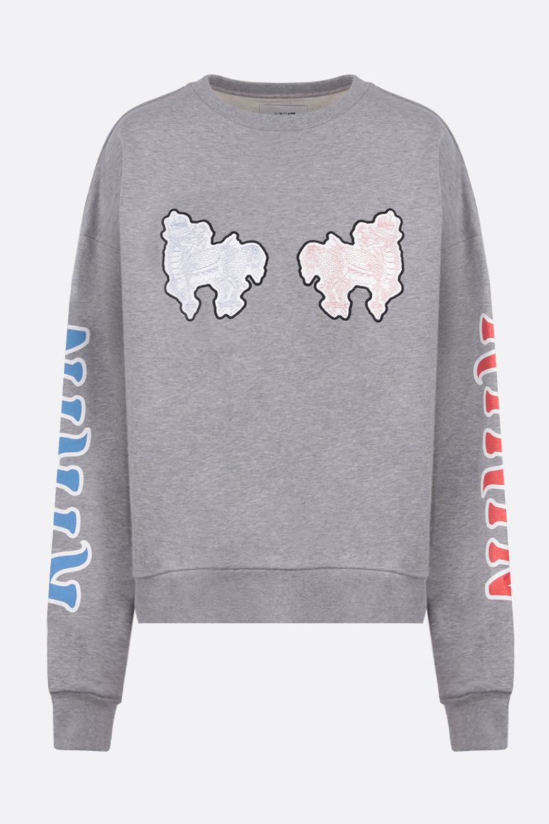 KIRIN: Haetae oversize cotton sweatshirt Color Grey_1